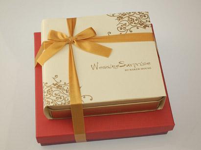 白精緻+小紅雅緻禮盒~喜餅版~白色封套缺貨中
