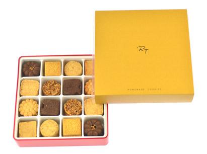 巧思禮盒(紅鐵盒+黃色紙封套)~與精緻小西餅口味不同的8種餅乾